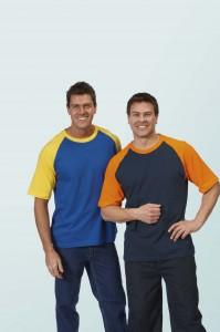 Cotton T Shirt Two Tone