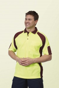 Hi Vis Panel Polo Shirts